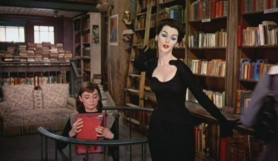 funny-face-bookshop-model-50s-black-dress